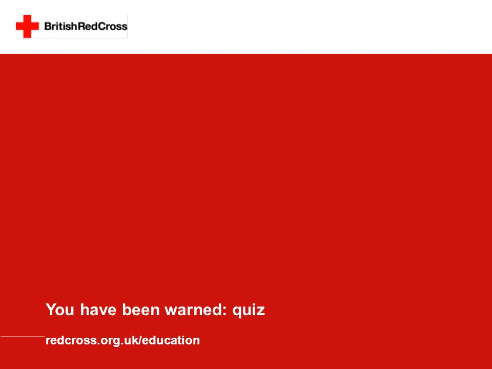 You have been warned: quiz