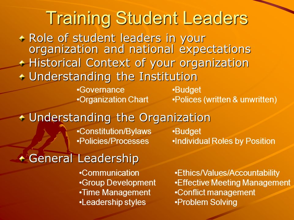Training Student Leaders