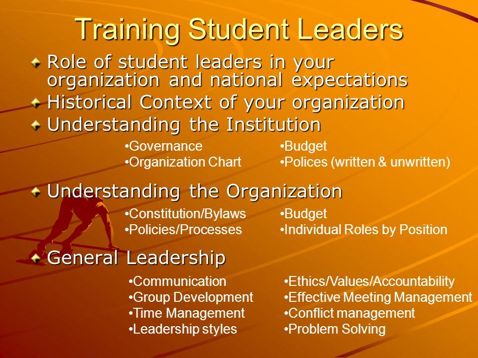Training Student Leaders