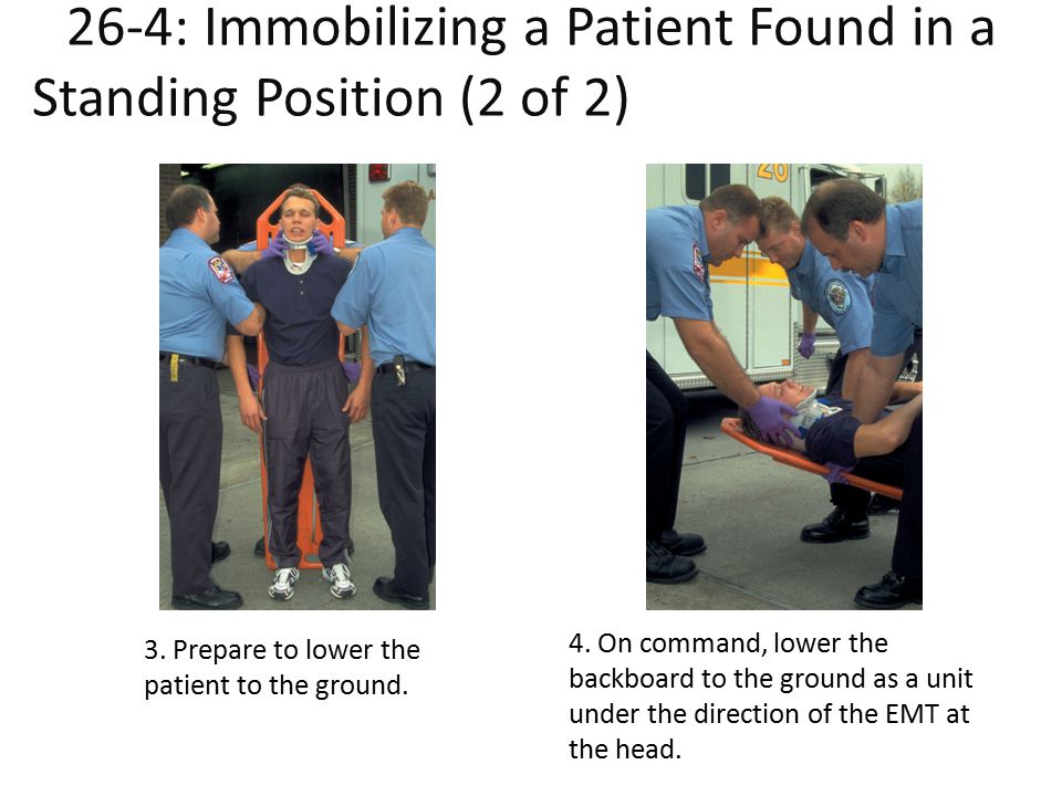 26-4: Immobilizing a Patient Found in a Standing Position (2 of 2)Patient Found in a Standing Position (2 of 2)