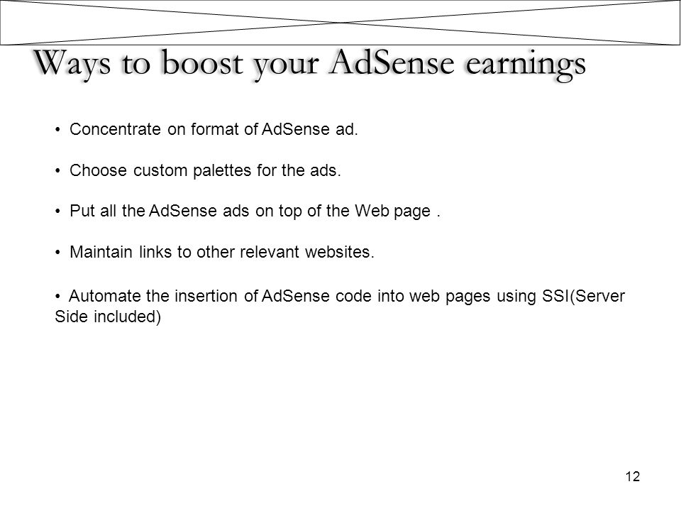 Ways to boost your AdSense earnings