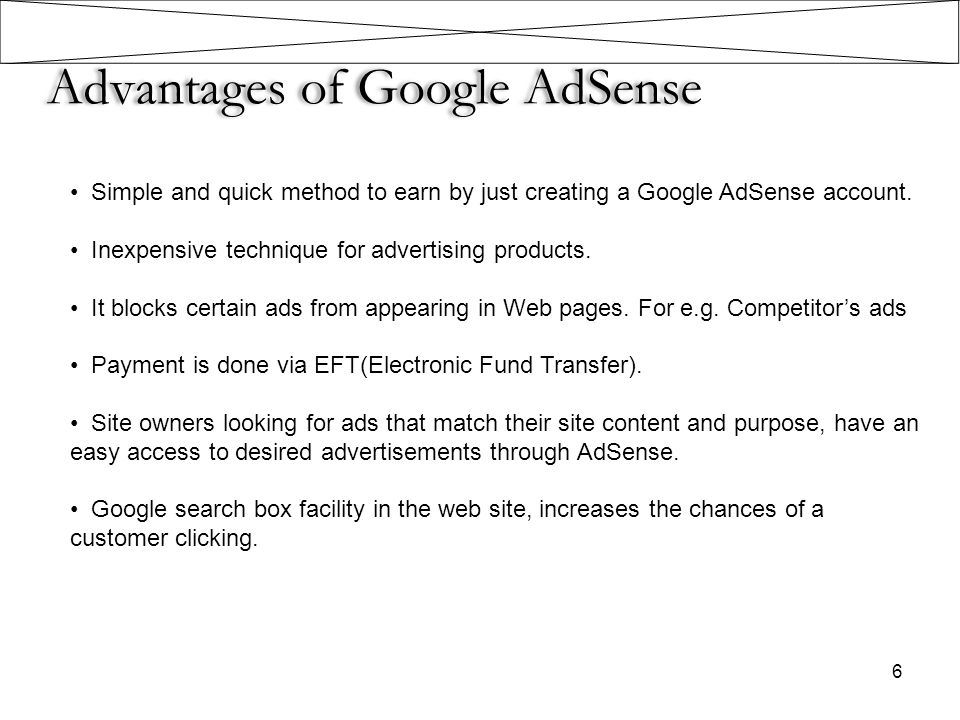 Advantages of Google AdSense