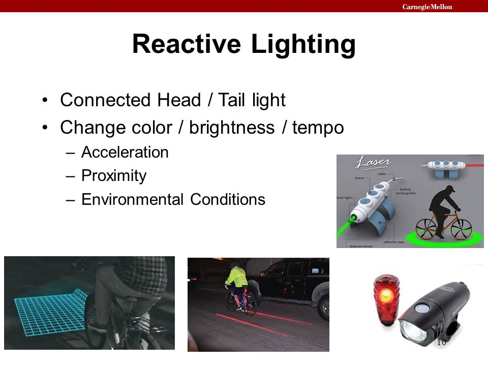 Reactive Lighting Connected Head / Tail light