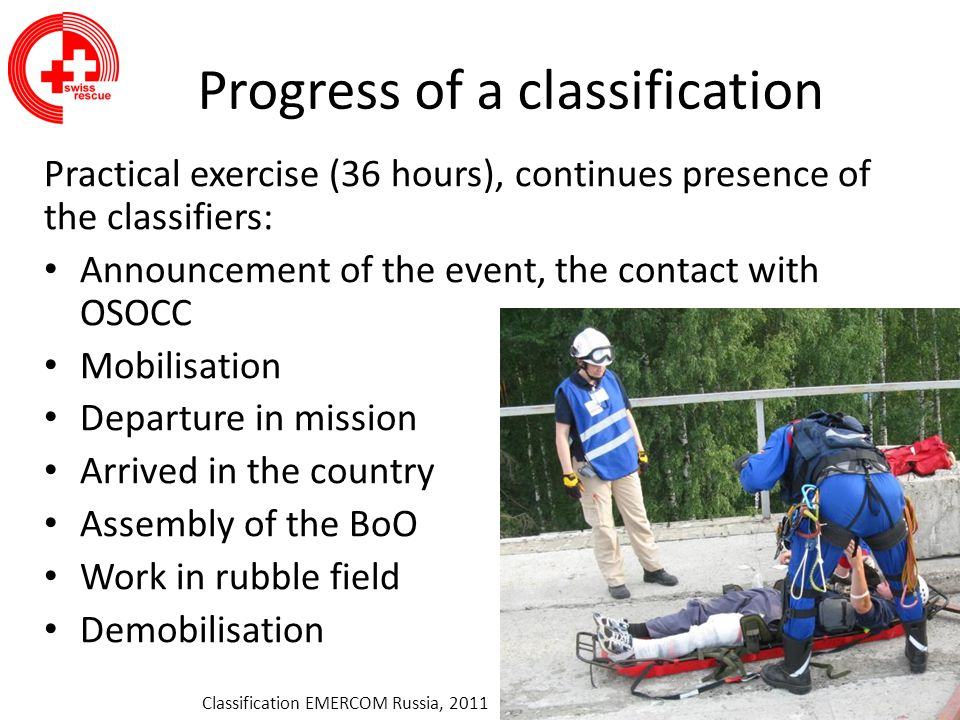 Progress of a classification