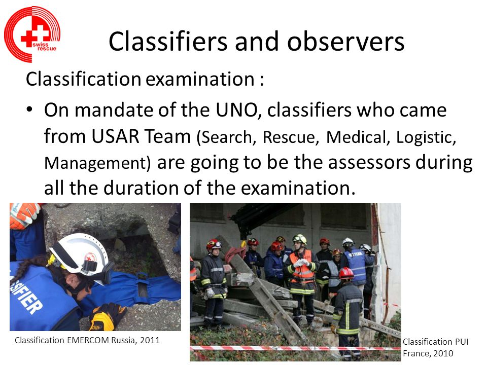 Classifiers and observers