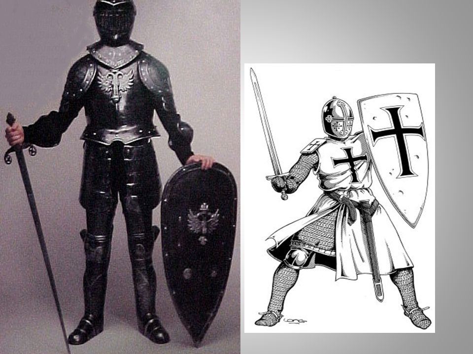 Warfare: Armor Knights in the Middle Ages wore armor in battle and were heavily armed.