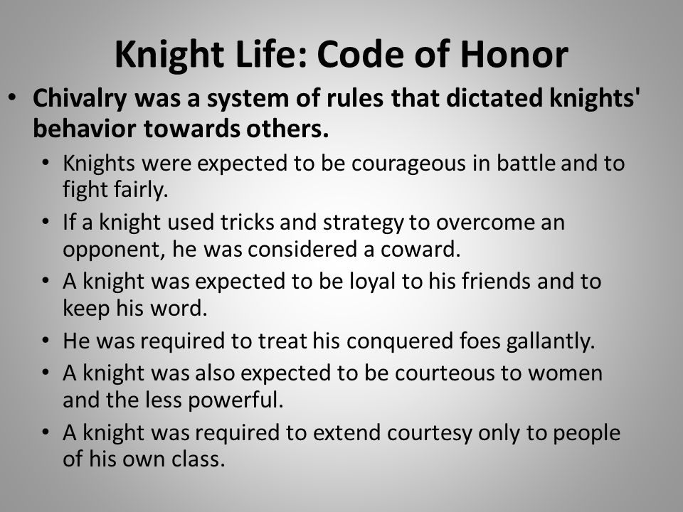Knight Life: Code of Honor