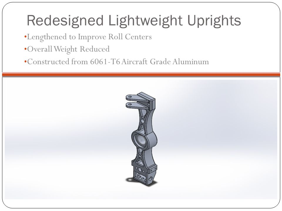 Redesigned Lightweight Uprights
