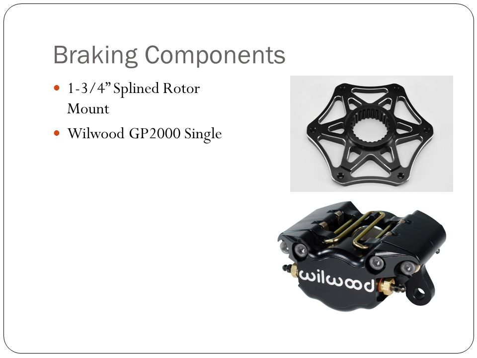Braking Components 1-3/4 Splined Rotor Mount Wilwood GP2000 Single