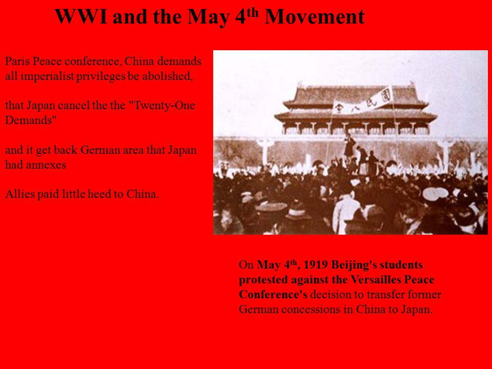 WWI and the May 4th Movement