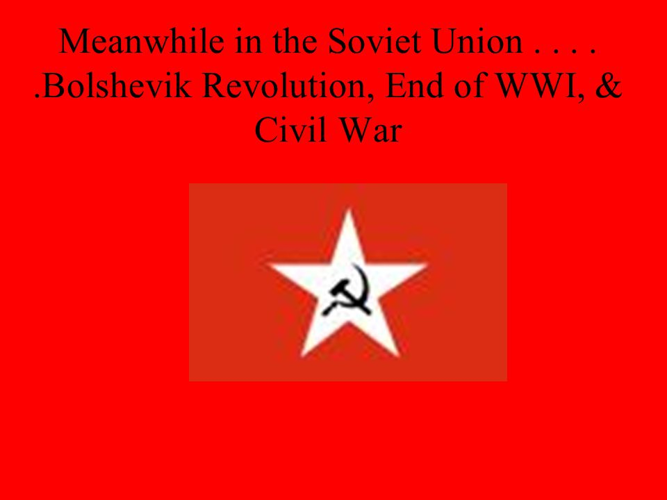 Meanwhile in the Soviet Union