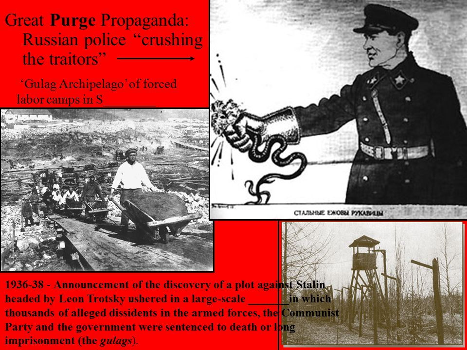 Great Purge Propaganda: Russian police crushing the traitors