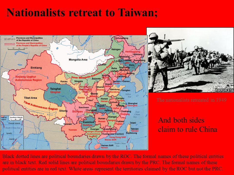 Nationalists retreat to Taiwan;