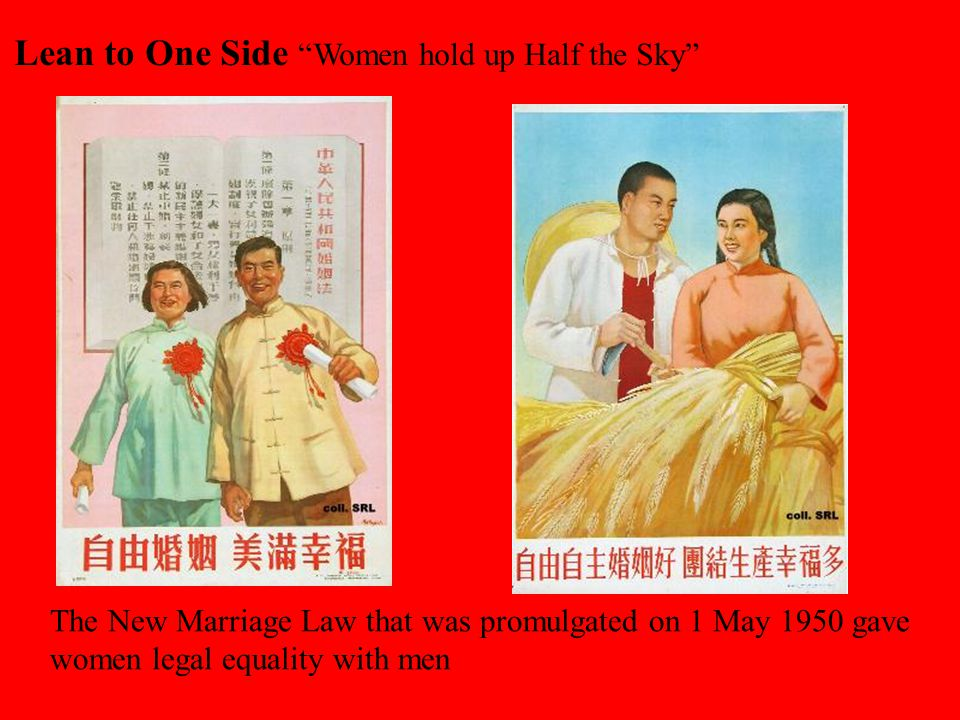 Lean to One Side Women hold up Half the Sky