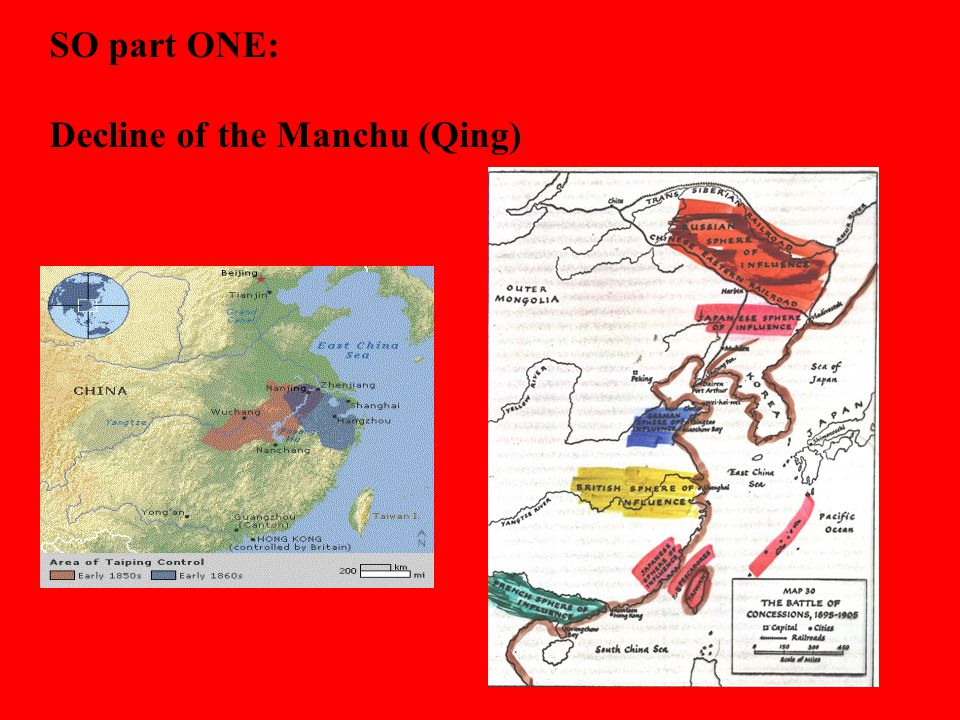 Decline of the Manchu (Qing)