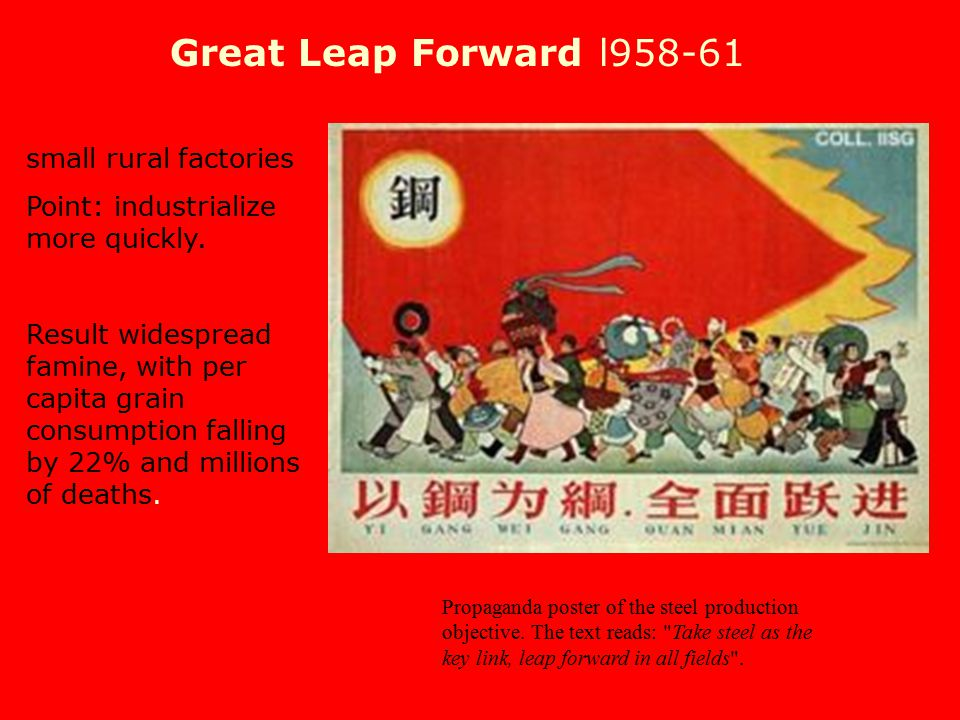 Great Leap Forward l958-61 small rural factories