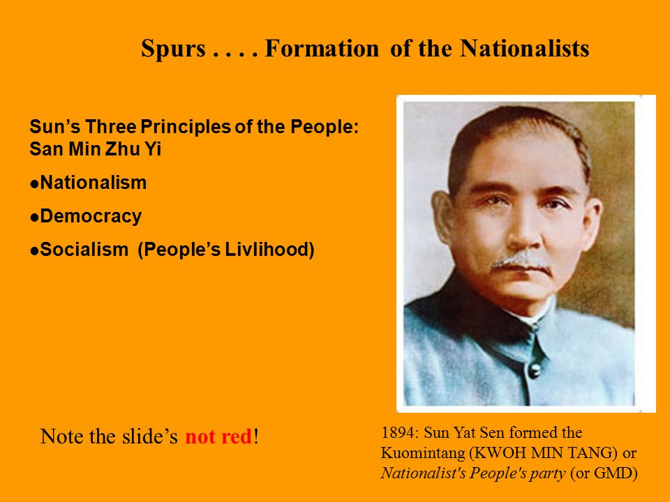 Spurs . . . . Formation of the Nationalists