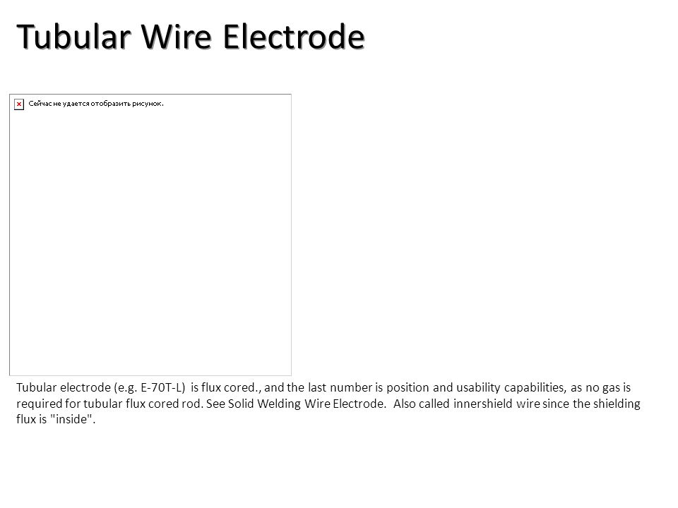 Tubular Wire Electrode