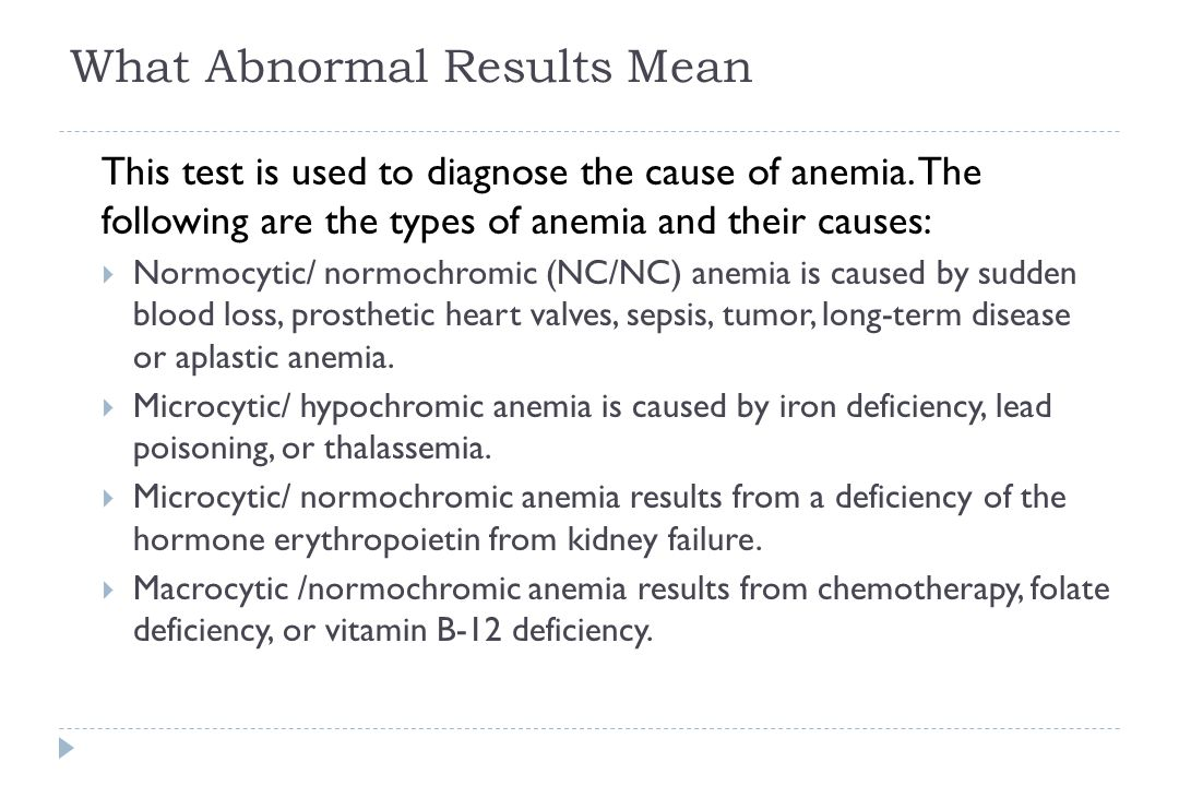What Abnormal Results Mean