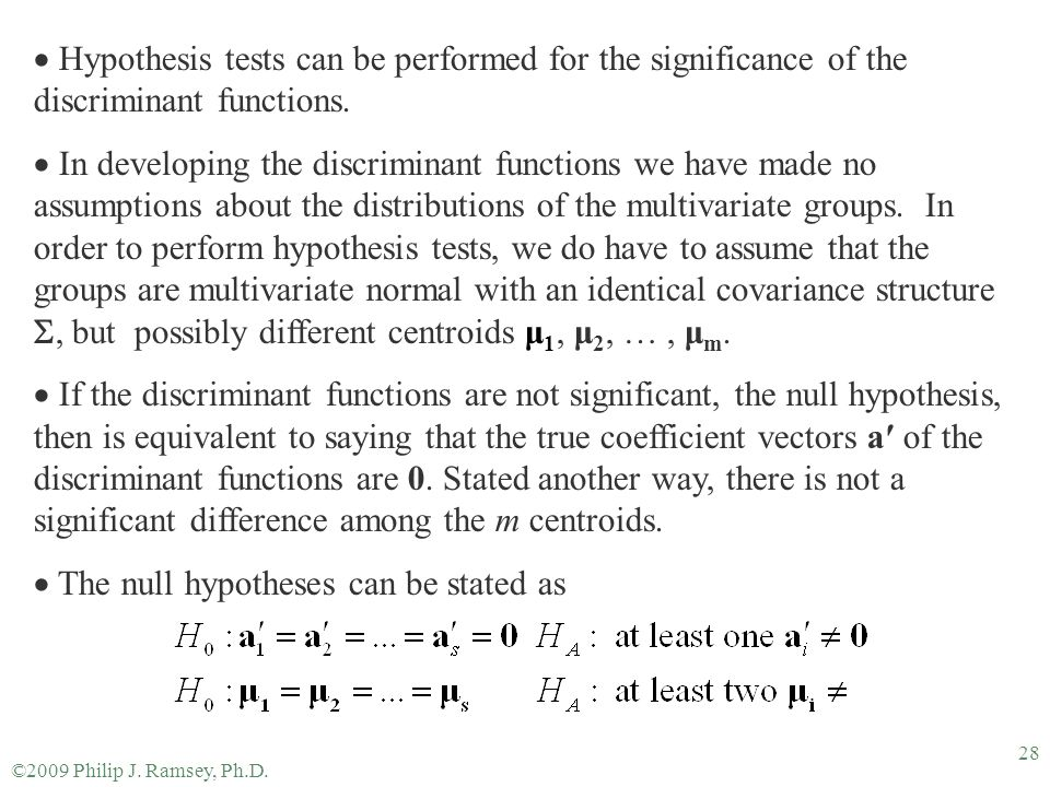 The null hypotheses can be stated as