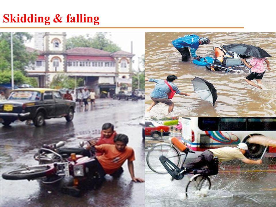 Skidding & falling