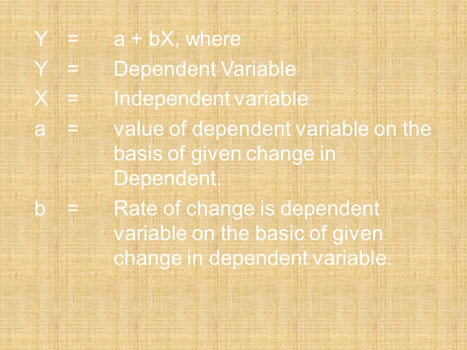 X = Independent variable