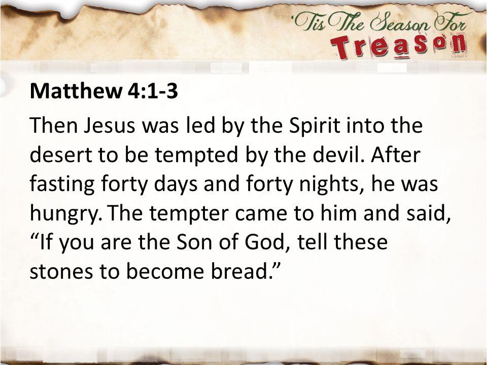 Matthew 4:1-3