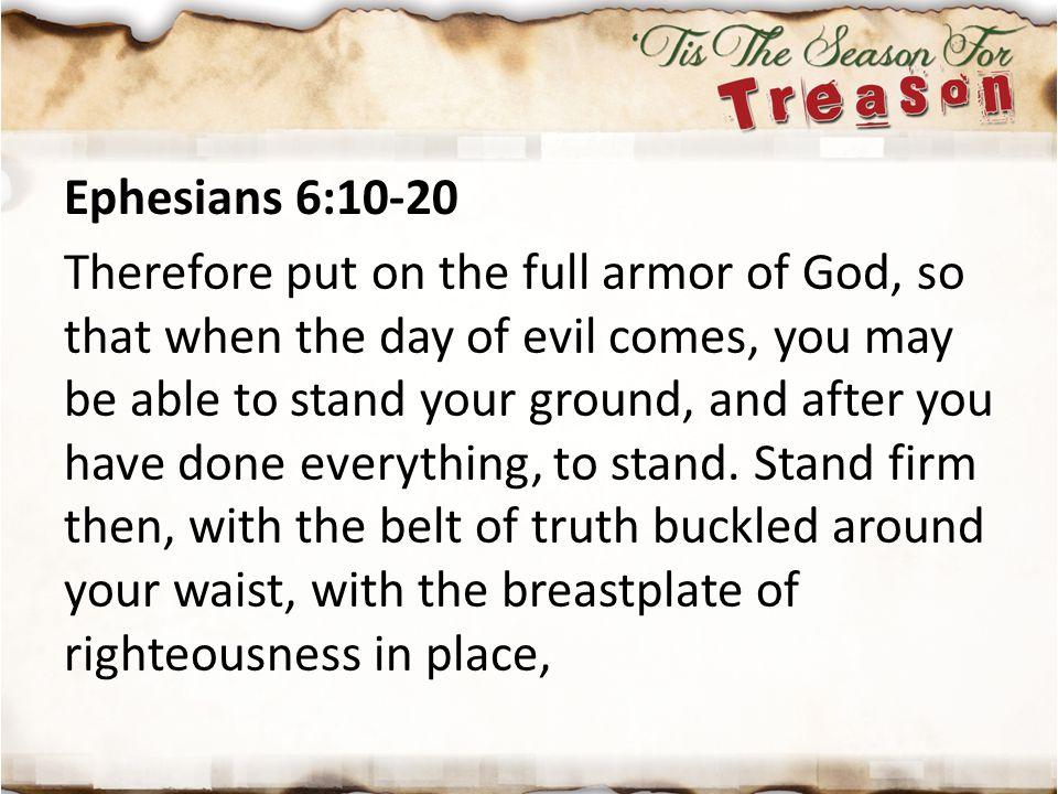 Ephesians 6:10-20