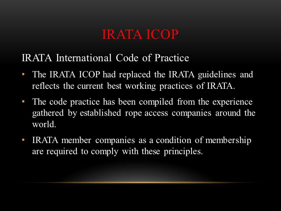 IRATA ICOP IRATA International Code of Practice