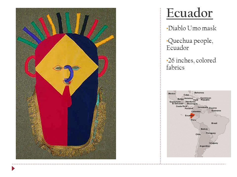 Ecuador Diablo Umo mask Quechua people, Ecuador