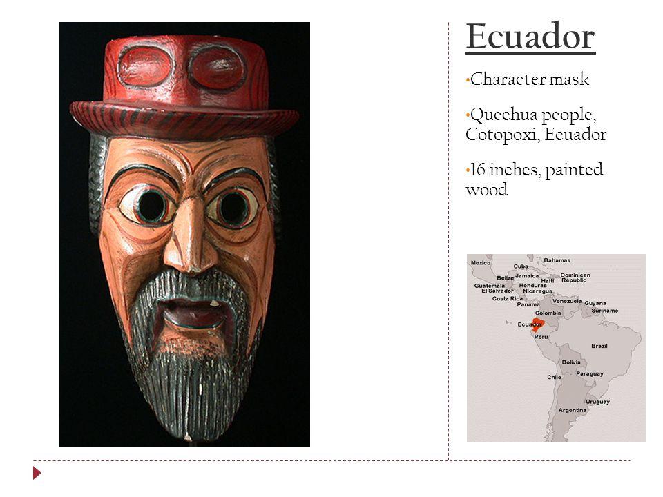 Ecuador Character mask Quechua people, Cotopoxi, Ecuador