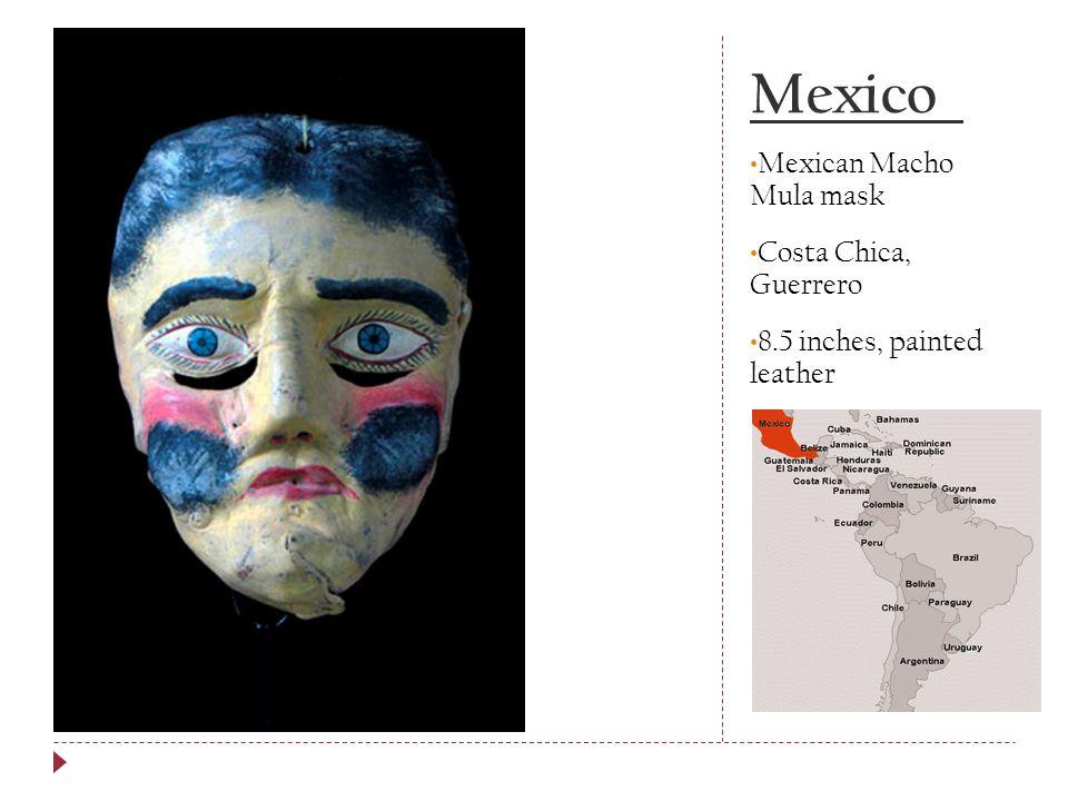 Mexico Mexican Macho Mula mask Costa Chica, Guerrero