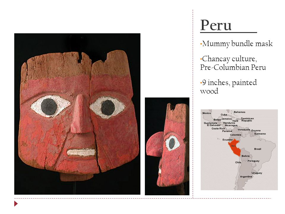 Peru Mummy bundle mask Chancay culture, Pre-Columbian Peru