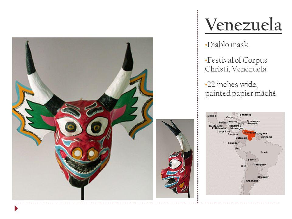 Venezuela Diablo mask Festival of Corpus Christi, Venezuela