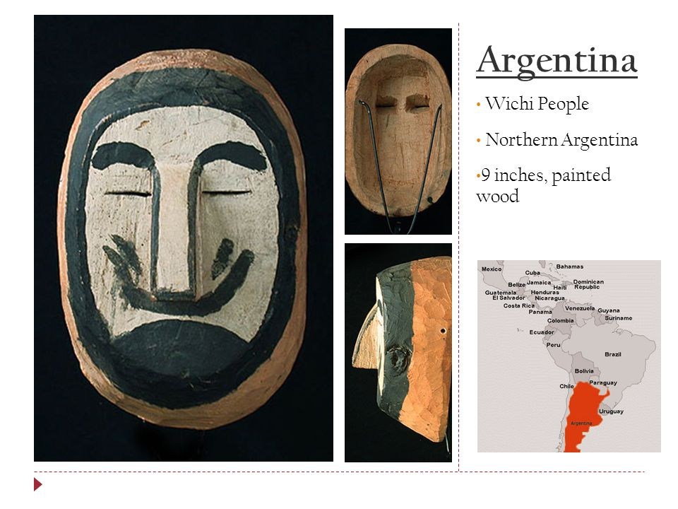 Argentina Wichi People Northern Argentina 9 inches, painted wood