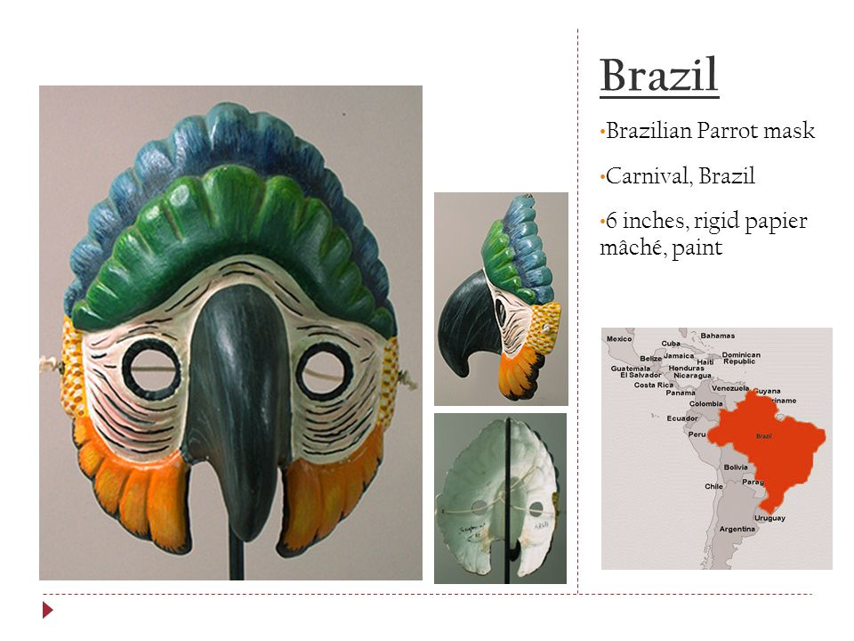 Brazil Brazilian Parrot mask Carnival, Brazil