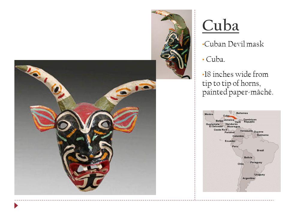 Cuba Cuban Devil mask Cuba.