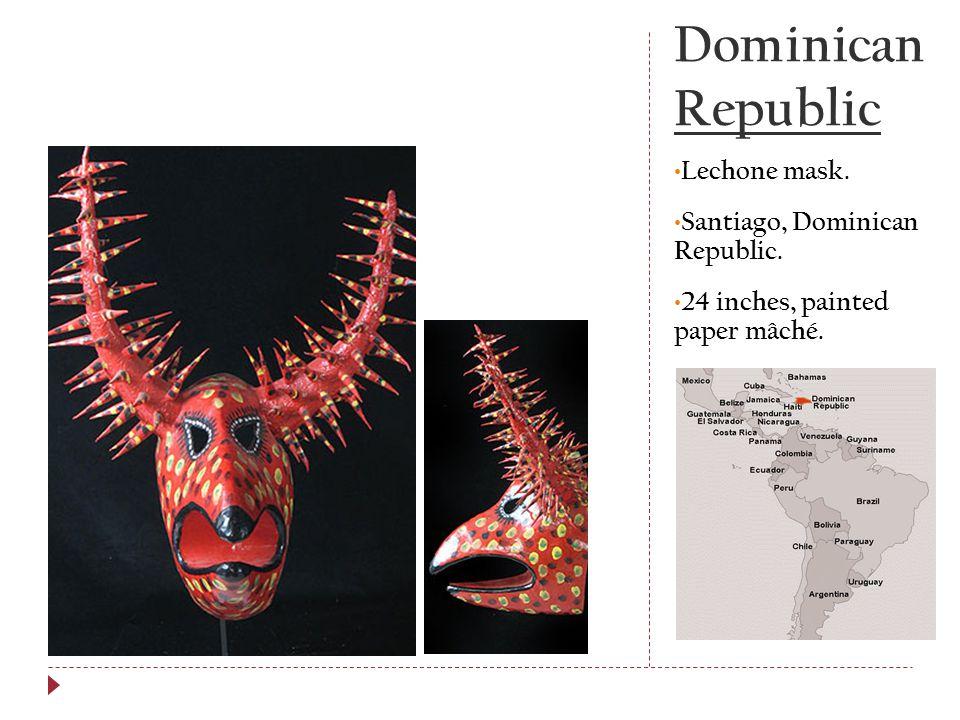 Dominican Republic Lechone mask. Santiago, Dominican Republic.