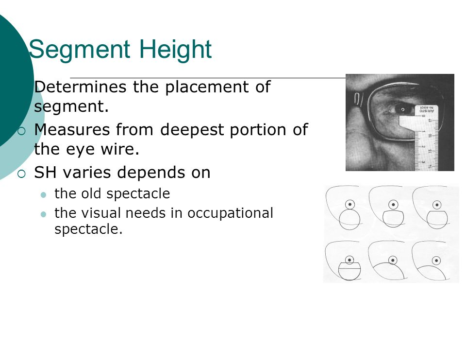 Segment Height Determines the placement of segment.