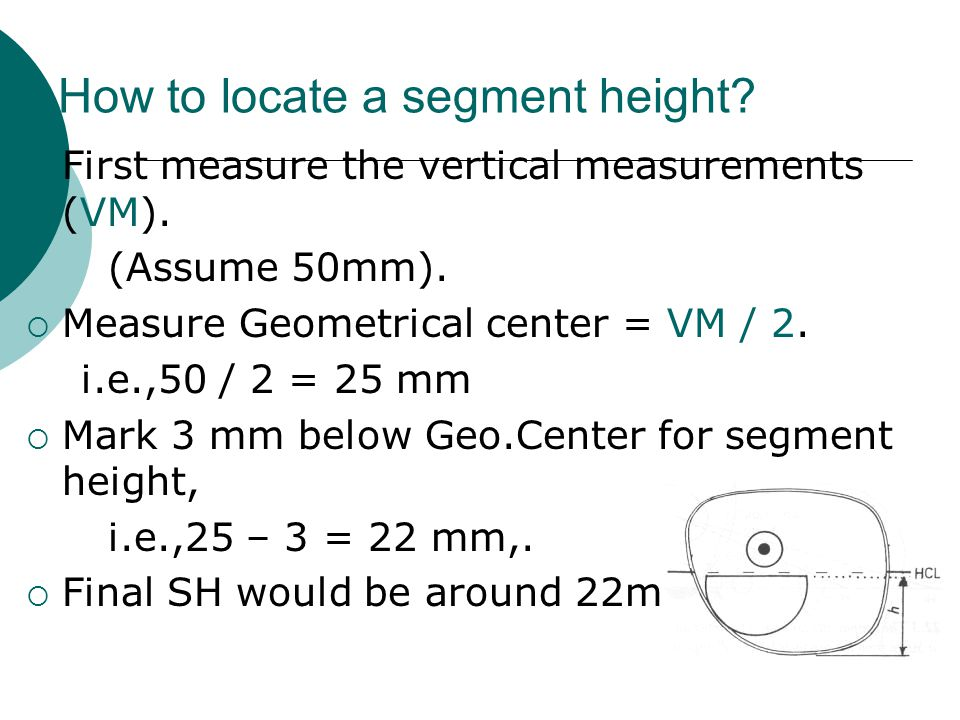 How to locate a segment height