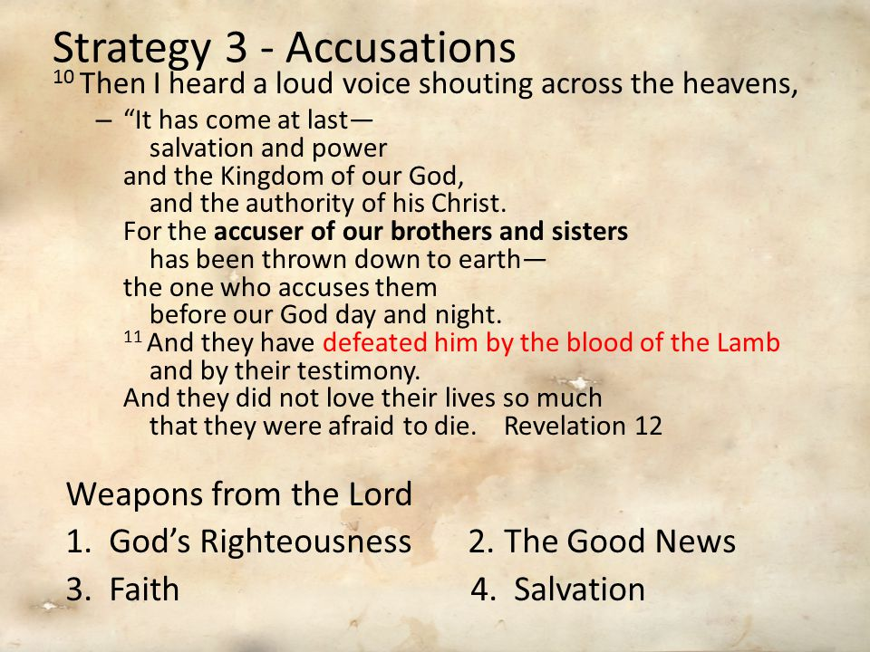 Strategy 3 - Accusations