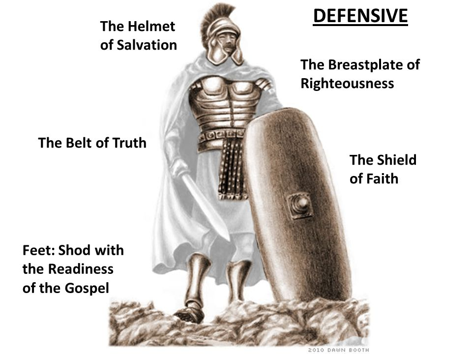 DEFENSIVE The Helmet of Salvation The Breastplate of Righteousness
