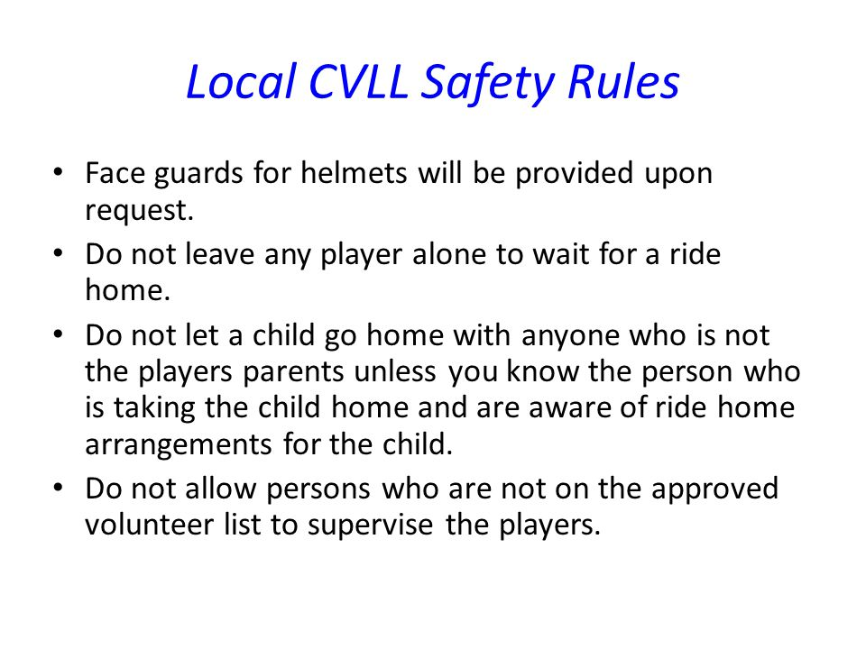 Local CVLL Safety Rules