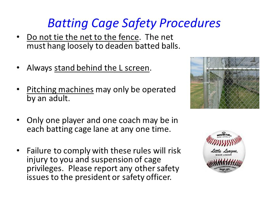 Batting Cage Safety Procedures