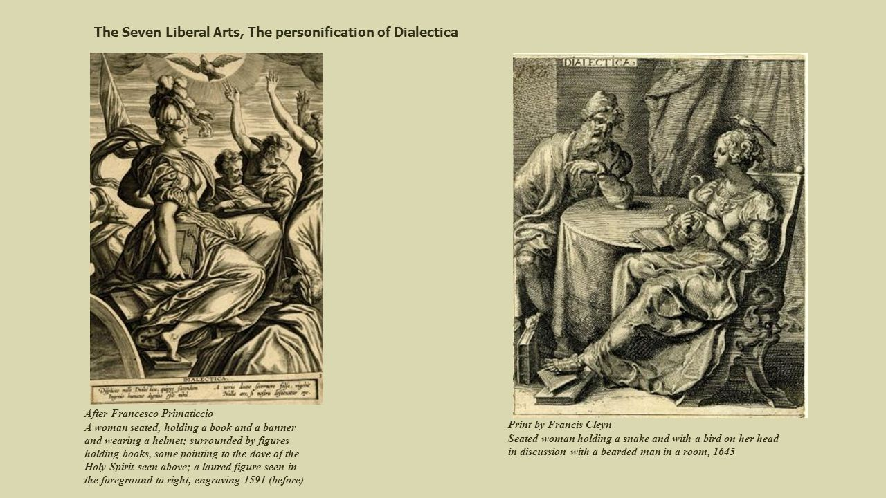 The Seven Liberal Arts, The personification of Dialectica
