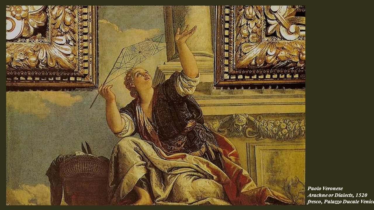 Paolo Veronese Arachne or Dialects, 1520 fresco, Palazzo Ducale Venice