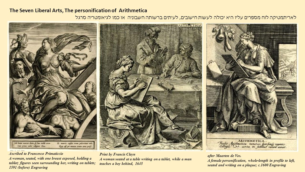 The Seven Liberal Arts, The personification of Arithmetica
