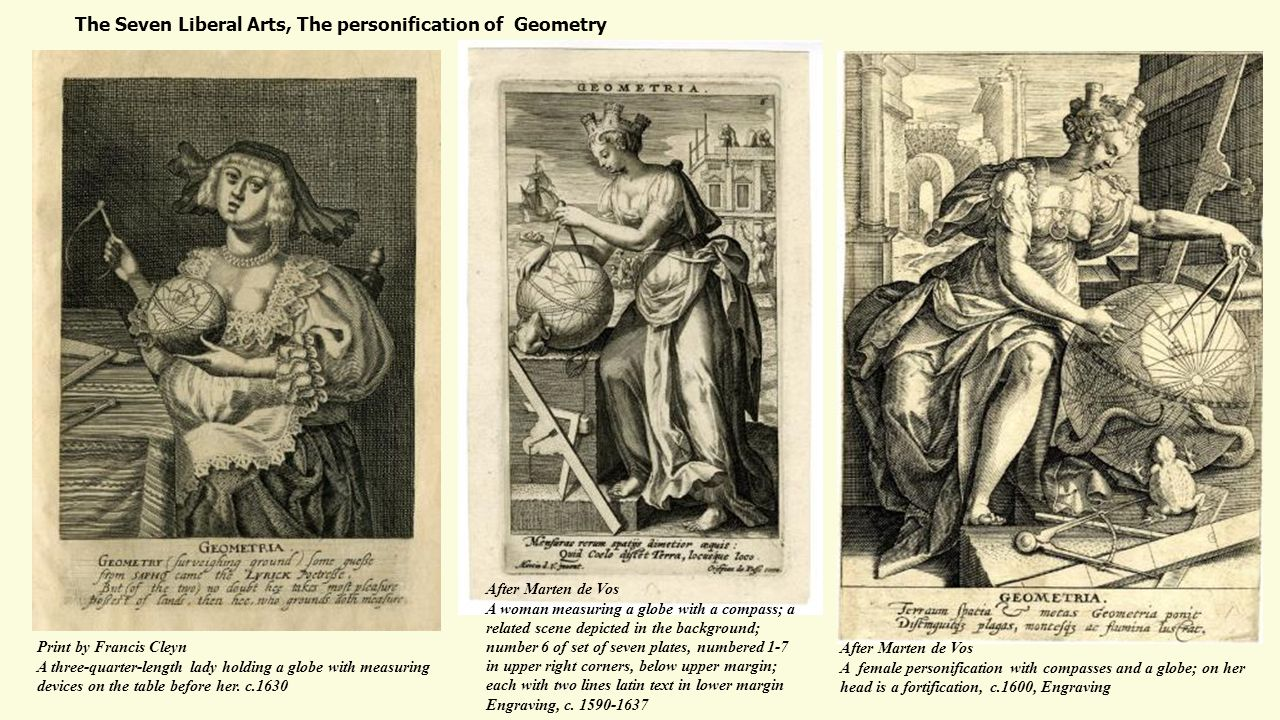 The Seven Liberal Arts, The personification of Geometry