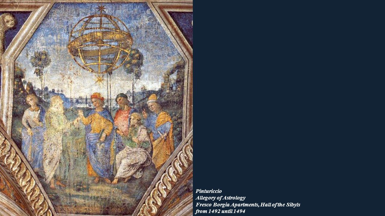 Pinturiccio Allegory of Astrology Fresco Borgia Apartments, Hall of the Sibyls from 1492 until 1494