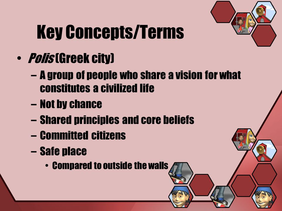 Key Concepts/Terms Polis (Greek city)